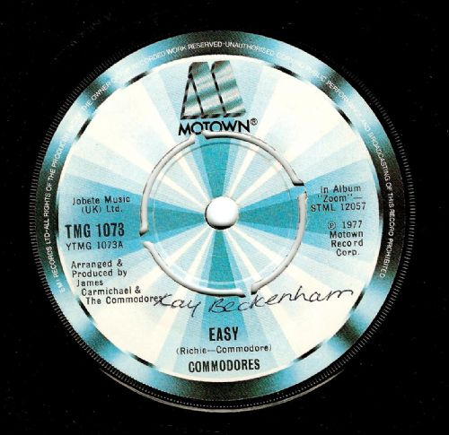 COMMODORES Easy Vinyl Record 7 Inch Motown 1977